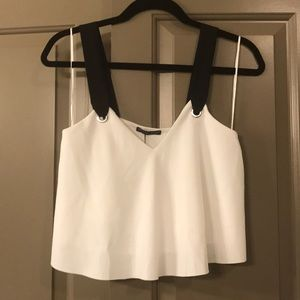 Zara crop top, S, white and black